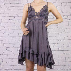 Free People One Adella Slip Dress grey c1